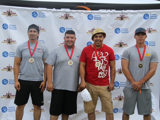 Oilfield Olympic first-place winners Buffalo Oilfield Company.