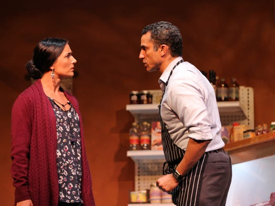 "Ananda Bena-Weber and J Paul Nicholas in ""The Butcher,"" a finalist in the Gulfshore Playhouse New Works festival several years ago."