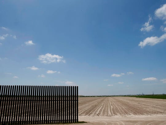 A border fence between the United States and Mexico starts about 15 miles inland from the mouth of the Rio Grande in Texas.