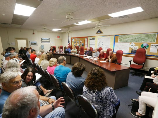 About 70 Town of Fenton residents filled the Fenton