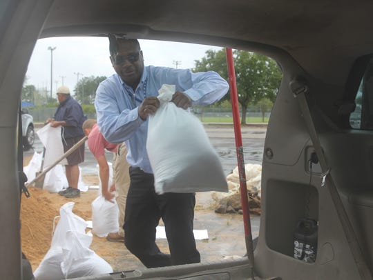 More than 20,000 sandbags were filled Wednesday as