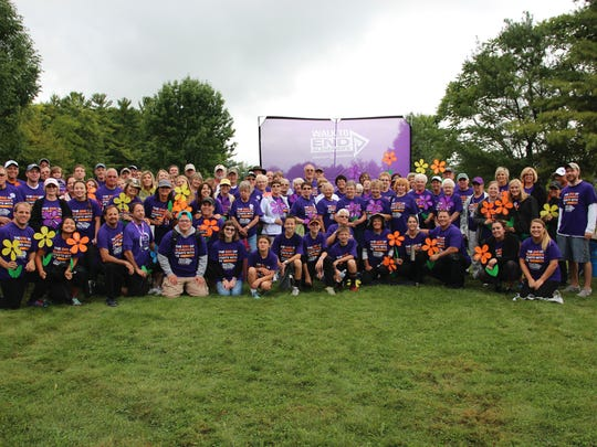 Team Generations from Plymouth at the 2016 Walk to End Alzheimer's in Sheboygan County.