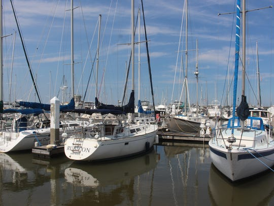 The Charleston city marina has 450 slips. Boat owners