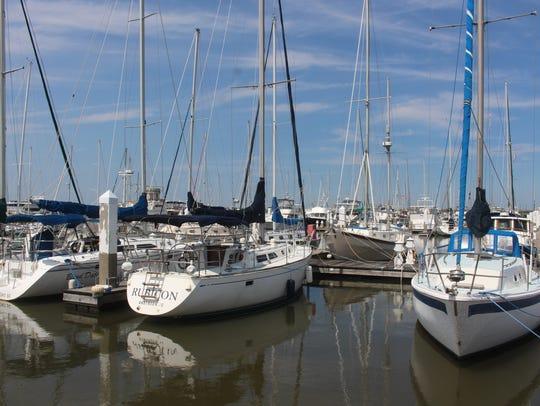 The Charleston city marina has 450 slips. Boat owners