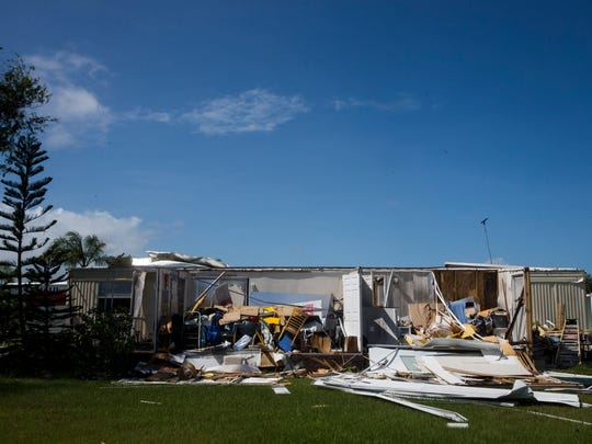 Damage caused by Hurricane Irma in the Tahiti Mobile