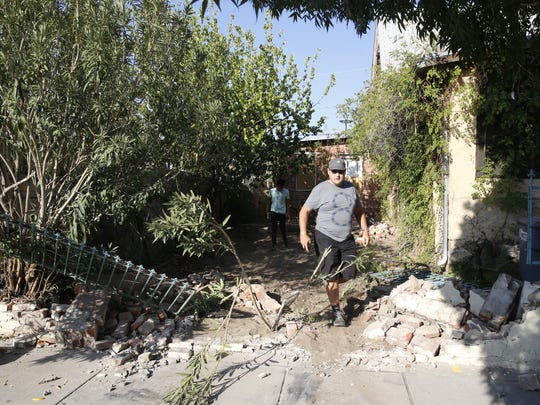Demolition started in Duranguito on Tuesday morning