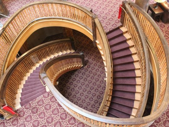 The original helical staircase was torn out of the