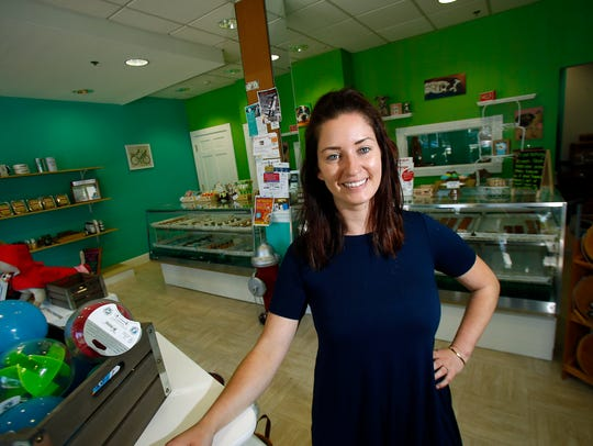 Franchise owner Amanda Smith at Bubba Rose Biscuit