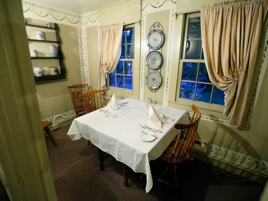 Richardson's Canal House will celebrate its 200th anniversary in 2018. A few former sleeping rooms like this one upstairs were converted into small dining areas during a 1979 renovation.