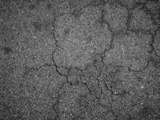 Crack asphalt background