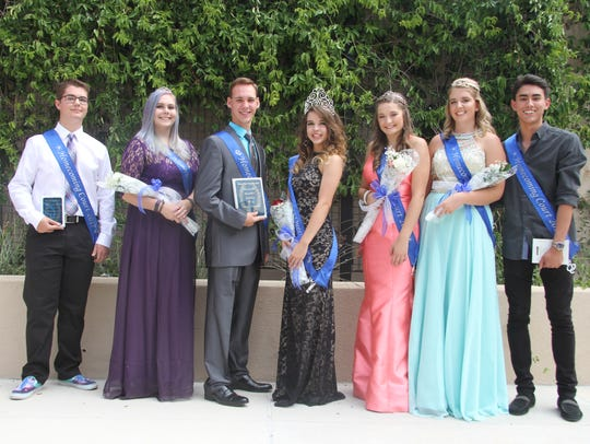 The Early College High School Homecoming court includes