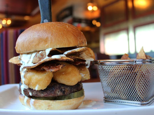 The Shannon Rose's House-Made Everything Burger features