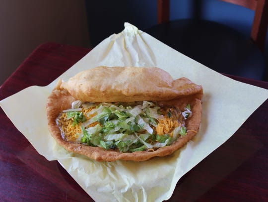 The Fry Bread House's signature green chili fry bread