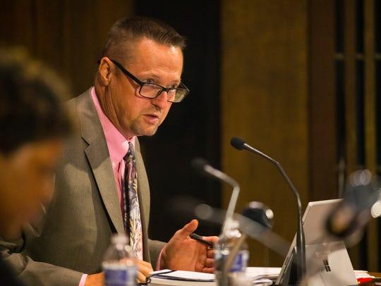 Wilmington City Council member Robert Williams speaks