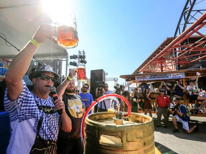 John Leinenkugel kicks off the Oktoberfest celebration