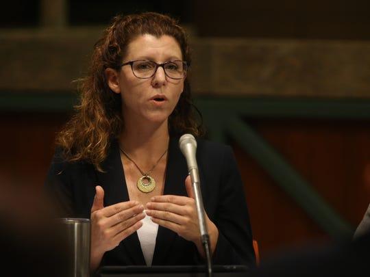 Leon County Commissioner Kristin Dozier at the CRA