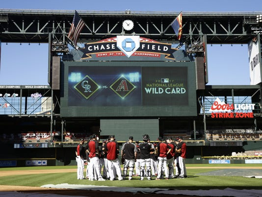 Colorado vs Arizona NL Wild Card Gane 2017