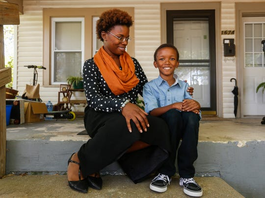 O'Brien St. James Daniels and her 8-year-old son, Sir Perrie Daniels.