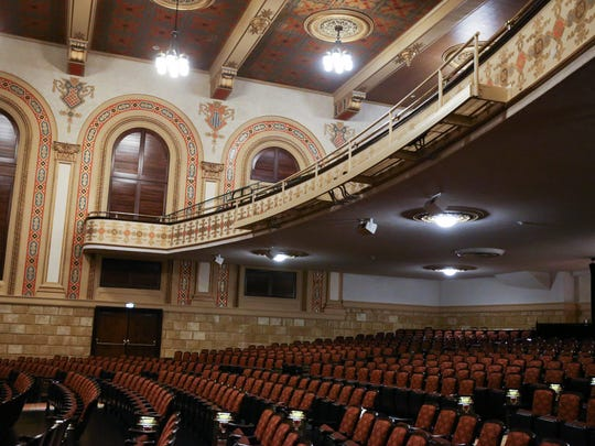 The newly renovated city auditorium renamed the Murphey Performance Hall reopens Tuesday, Oct. 3, 2017.