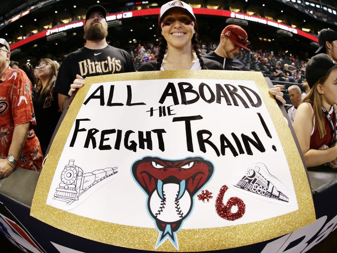 Arizona Diamondbacks fan Sarah Orozco of Phoenix during