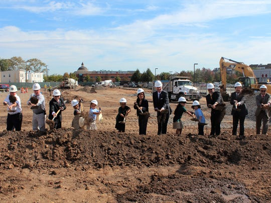 Groundbreaking for the new Seaman Avenue Elementary School in Perth Amboy.