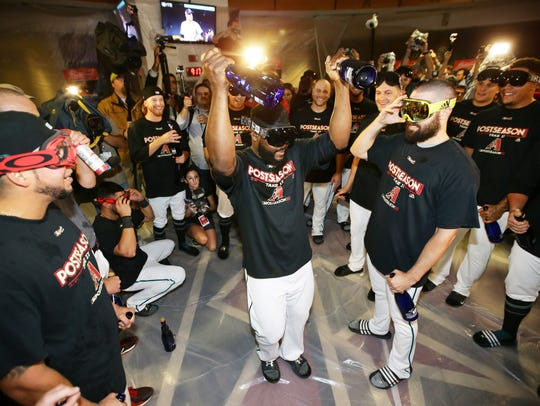 Fernando Rodney prepares to unleash a champagne celebration