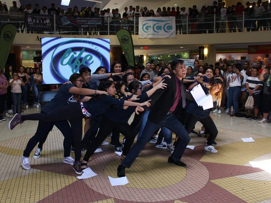 Students from XXXXXX perform at the LIVE Teen Expo Sept. 30 at the Agana Shopping Center.