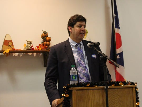 Ohio attorney general candidate Steve Dettelbach speaks at a Richland County Democratic Women's Caucus meeting on Oct. 9, 2017. Dettelbach is a former U.S. Attorney for the Northern District of Ohio.