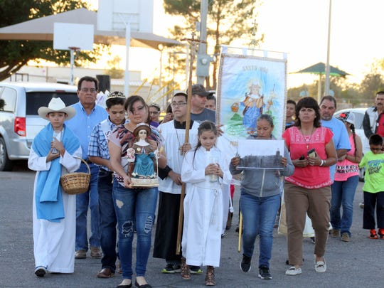 The 2018 procession for the Santa Nino Family Festival on Friday, Oct. 6 was led by children of Santa Ana Roman Catholic Church.