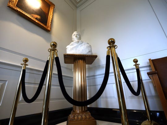 A marble bust of Napoleon that has resided in Madison