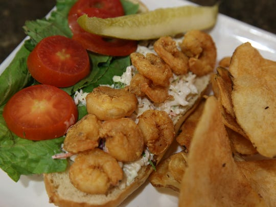 The shrimp po-boy at Florida State's new restaurant Community Table, pictured Wednesday.