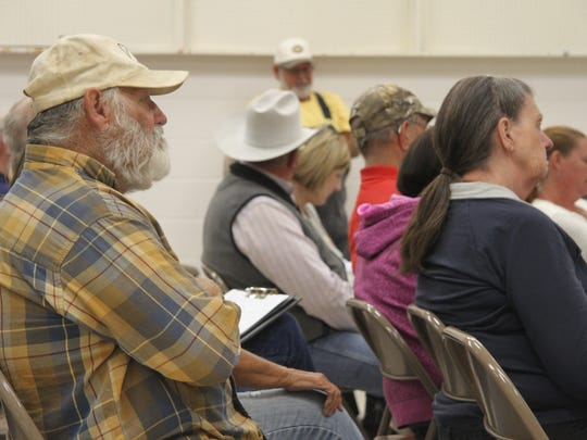 Audience members questioned the board for not allegedly being aware of the reported embezzlement at Wednesday's meeting, Oct. 11, 2017. The board said the immediately notified law enforcement after learning of the issue.