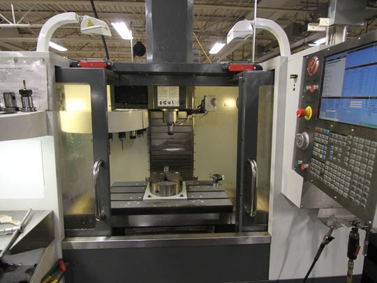 Advanced Superabrasives currently has four computer numerically controlled machines similar to this one, and a fifth is on the way.