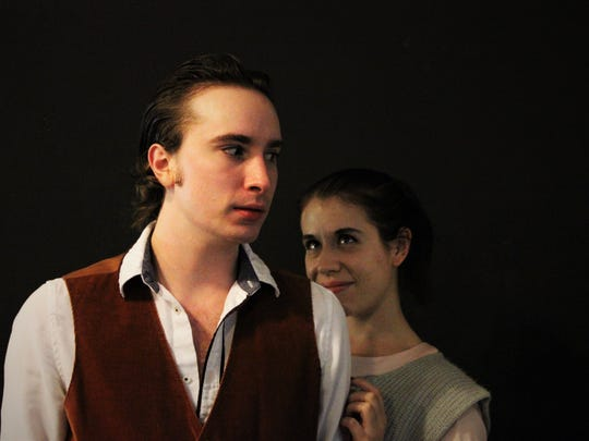 """Steven Coe and Kate Dirrigl in Lab Theater's """"Veronica's Room"""""""