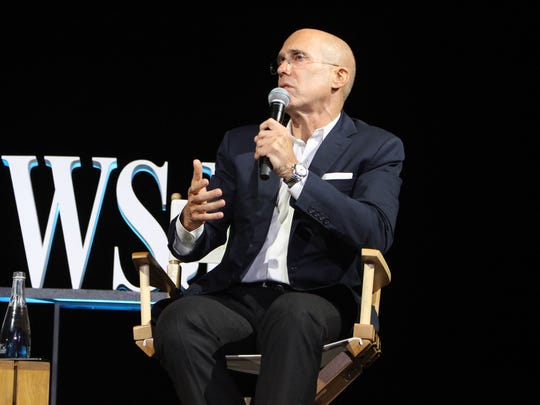 Film producer Jeffrey Katzenberg at The Wall Street