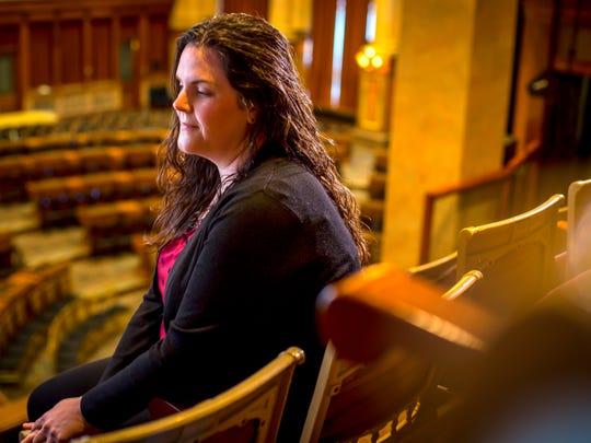 Deborah Thompson, the legislative liaison for the Iowa