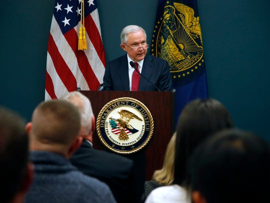 Sessions appears in Portland, Ore., to discuss sanctuary