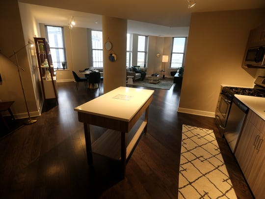 One of the units for rent in  Sibley Square, the former