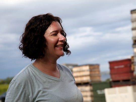 Nova Cadamatre makes Trestle 31 wines at Fox Run Winery.