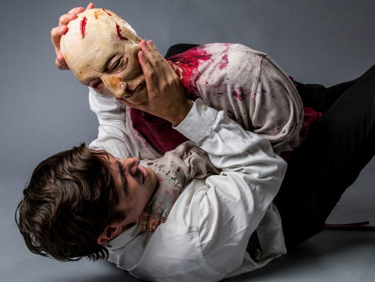 "Ricky Coates' ""A Zombie Odyssey"" is Part 1 of a trilogy of plays following a hapless zombie in his efforts to reunite with his wife. The show runs Oct. 20-Nov. 4 at the Know Theatre of Cincinnati. (Provided photo by Kassandra Cincaid)"