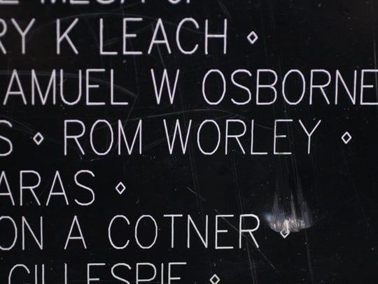 The name of Walnut-born Rom Worley, a U.S. Army Staff