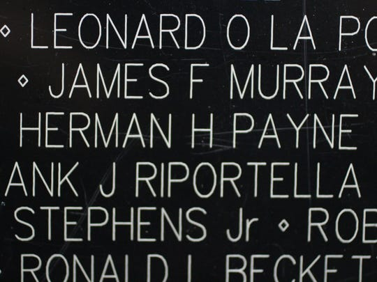 """The name of Marshall-born Herman """"Chuck"""" Howard Payne appears among the 58,318 Americans who lost their lives in the Vietnam War."""
