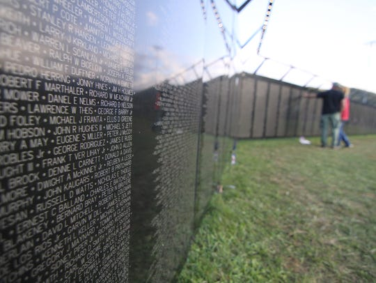 The Wall That Heals, a 250-foot-long replica of the Vietnam Veterans Memorial in Washington, D.C., visited Burnsville in October.