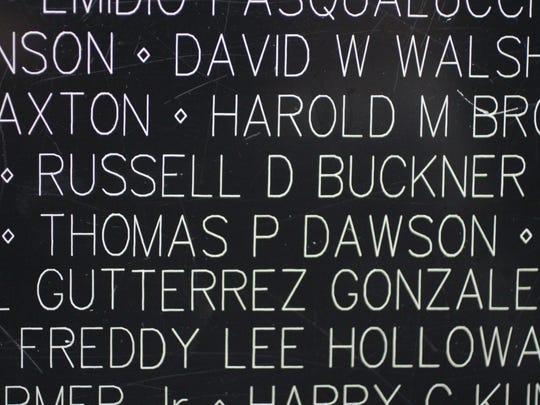 The name of Weaverville-born Russell D. Buckner, an