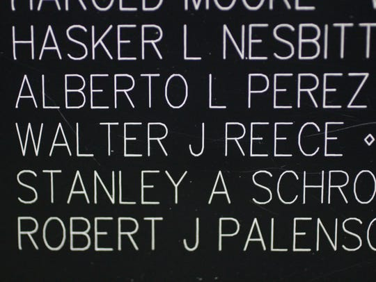 The name of Walter Reece, an army Sergeant, appears