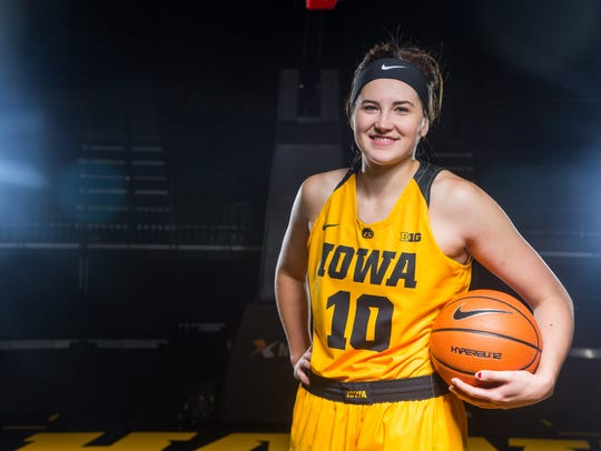 Iowa star Megan Gustafson is having a strong start to the season.
