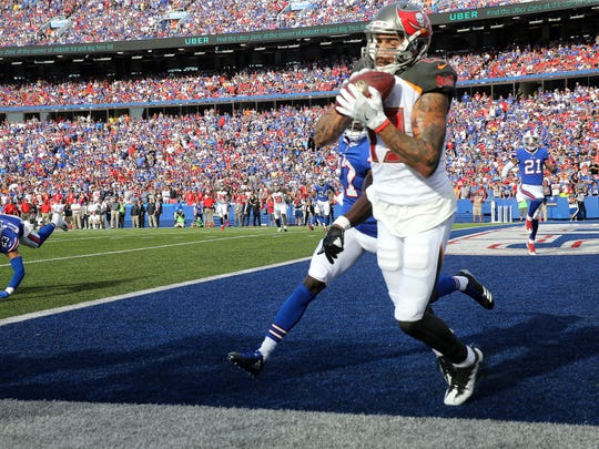 Tampa Bay receiver Mike Evans caught this  12-yard