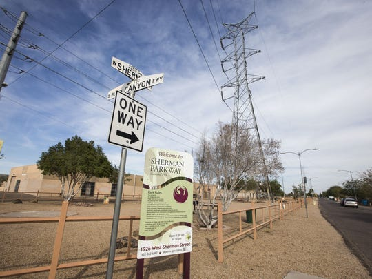 The city of Phoenix will plant trees in the Sherman Parkway, a stretch of open space in a south Phoenix neighborhood.