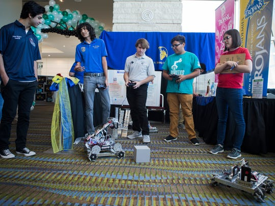 Moody High School's Land Robotics Teams demonstrate