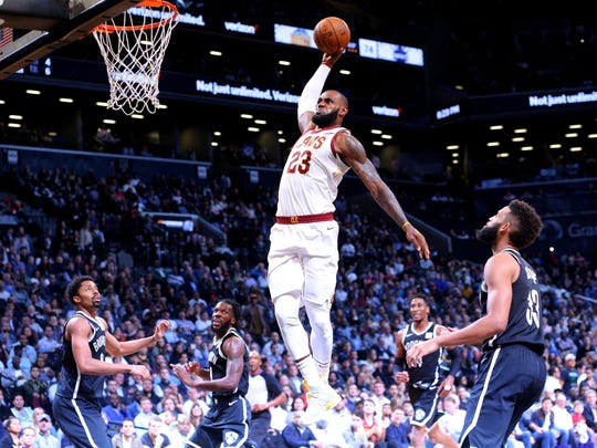 3. LeBron James, Cavaliers (Oct. 25) — 29 points, 13 assists, 10 rebounds at Nets